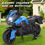 Kids Ride On Motorcycle 6V Bicycle Electric Toy Battery Powered W/Training Wheel