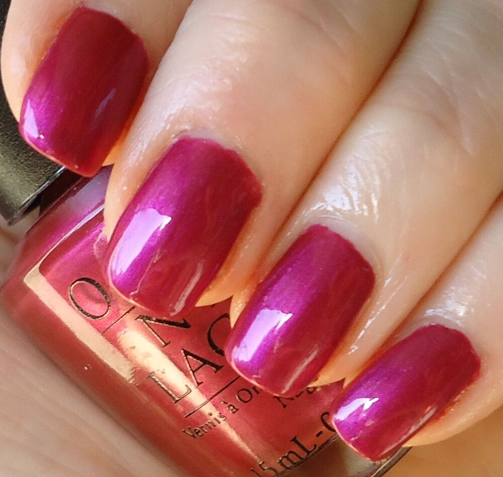 OPI Nail Lacquer Polish - Jewel of India - Black Label - Pink Purple ...