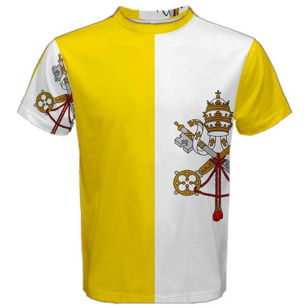 6af53f3eb New Vatican City Flag Sublimated Men s Sport Mesh T-Shirt XS-3XL Free  Shipping