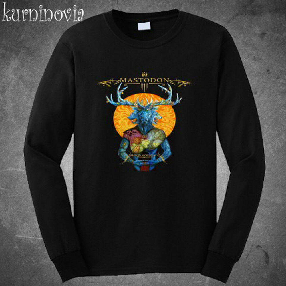 d90ca3856 Details about Mastodon Blood Mountain Metal Band Long Sleeve Black T-Shirt  Size S to 3XL
