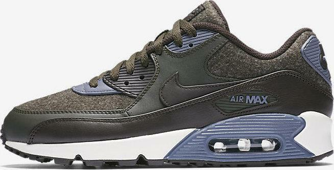 separation shoes 513c5 2cbba NIKE AIR MAX 90 PRM PREMIUM WOOL 700155 300 SEQUOIA GREEN VELVET  BROWN SAIL BLUE   eBay