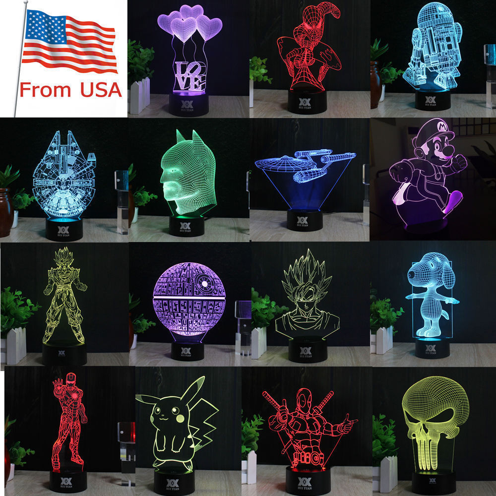 star wars desk accessories with lamp   Star Wars 3D LED Decor Night Light Touch Table Desk Lamp ...