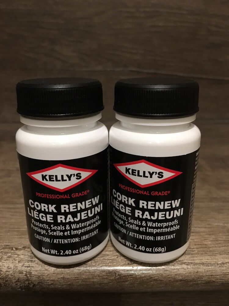 d22e07efbc7 Details about Lot of 2 KELLY S CORK RENEW Birkenstock Repair Seal  Waterproof Protector 2.4 oz