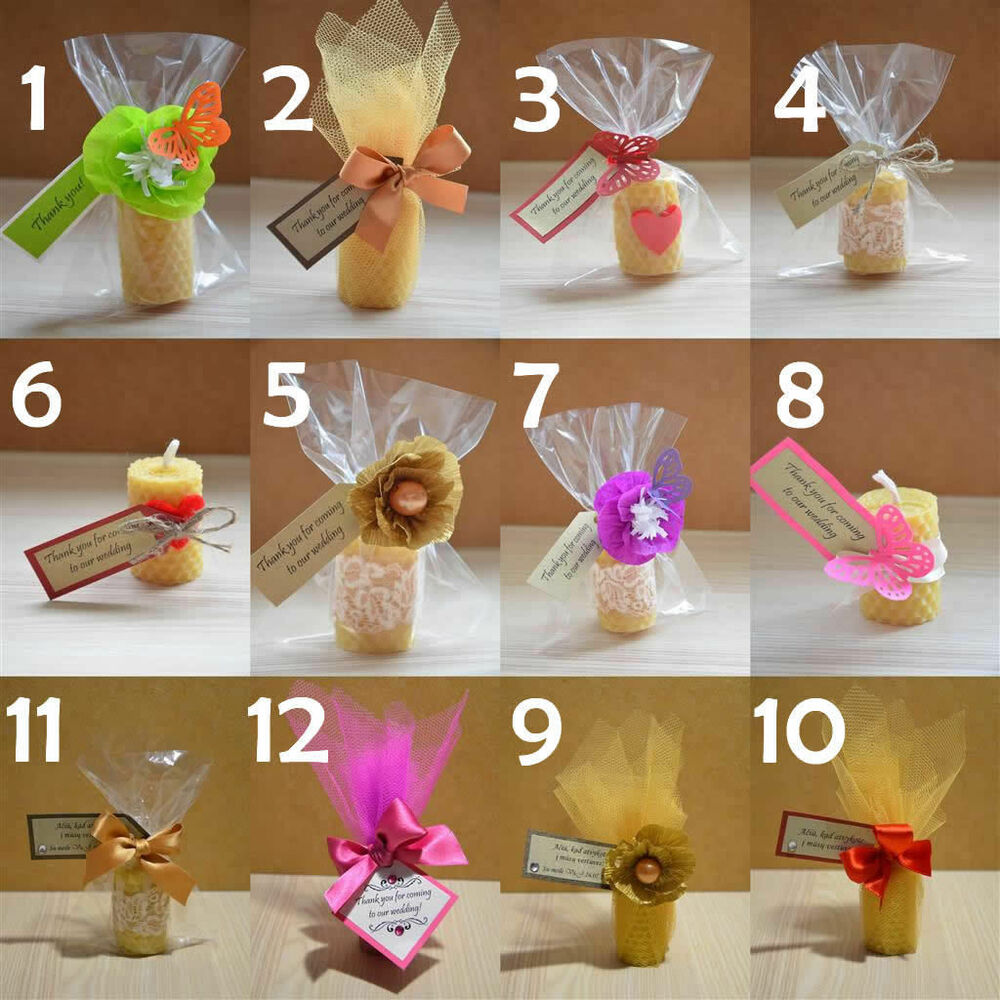 Gift For Guests At Wedding: Wedding Gifts For Guests Wedding Beeswax Candle Favour