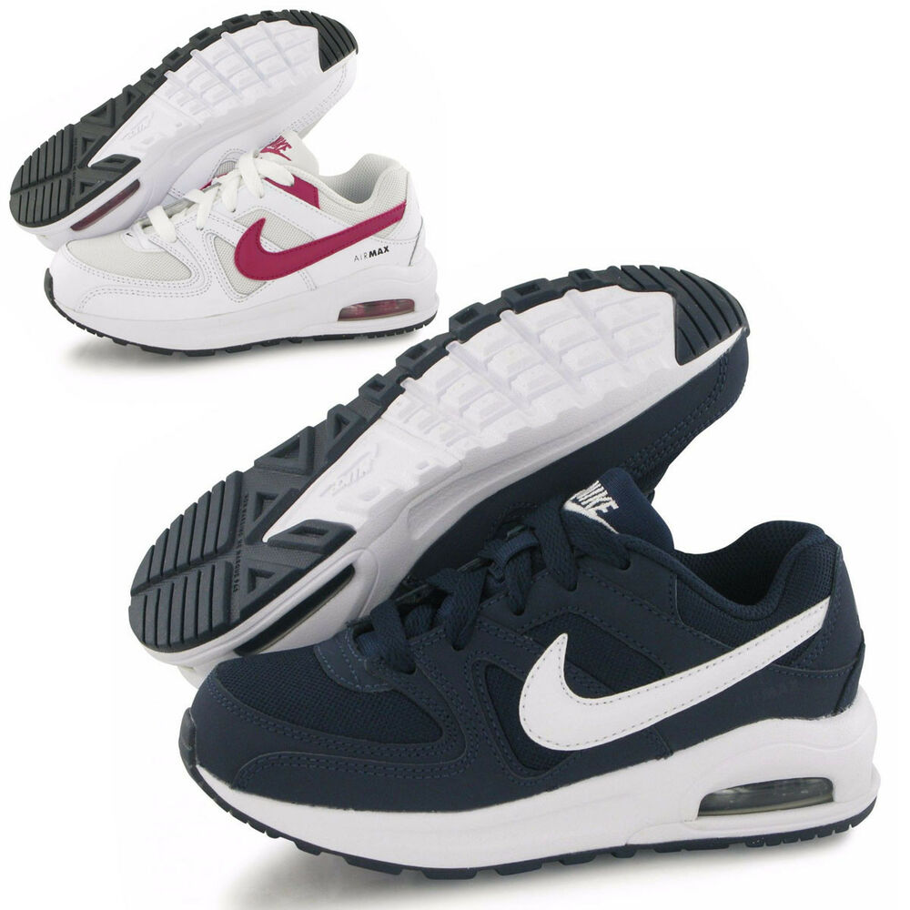 new style 9e9ea 7f661 Details about Boys Girls Nike Air Max Command Leather Trainers Sports  School Gym Running Shoes