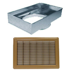 Return Air Mobile Home Floor Filter Box & Grille Brown 14''x20'' 14'' Round Collar