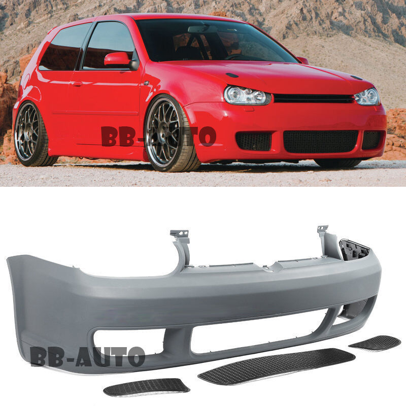 Lowered Mk4 R32: VW Golf 99-05 MK4 GTI IV R32 Style Front Bumper Cover
