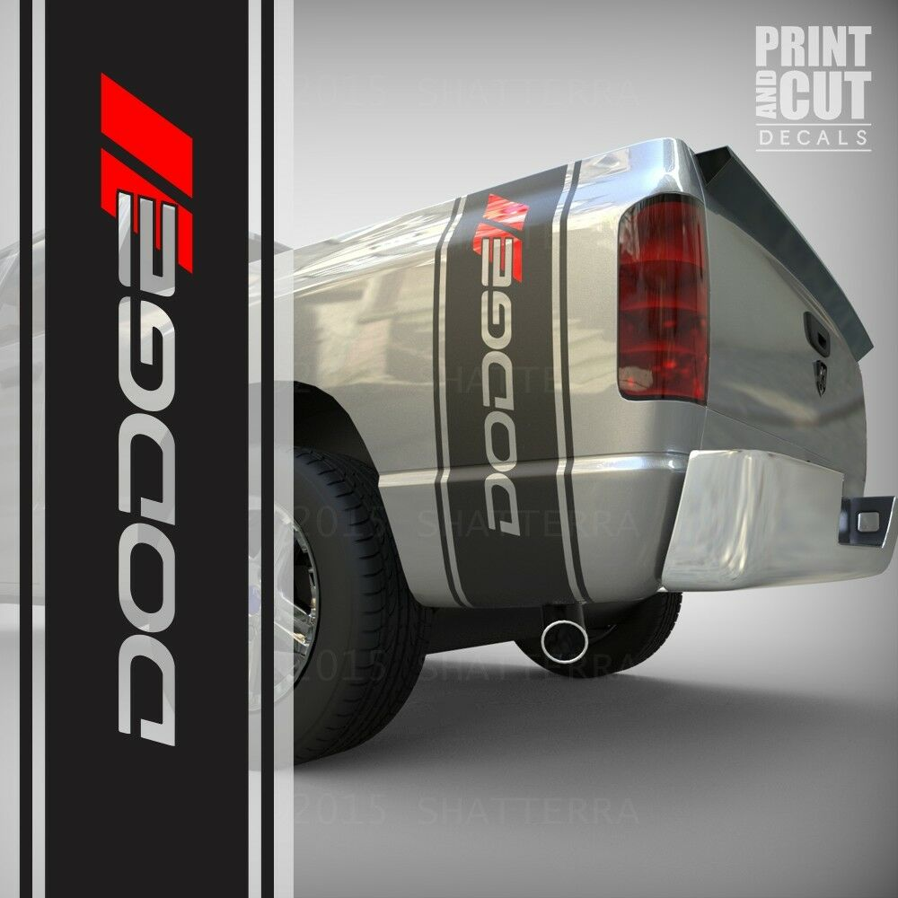 Details about dodge ram 1500 2500 3500 truck bed box stripe decal vinyl sticker graphic 042