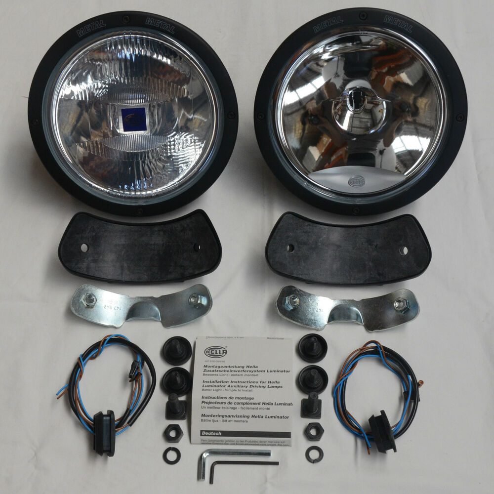 details about hella rallye 4000 driving lights + 100w hid conversion kit  ***brand new***