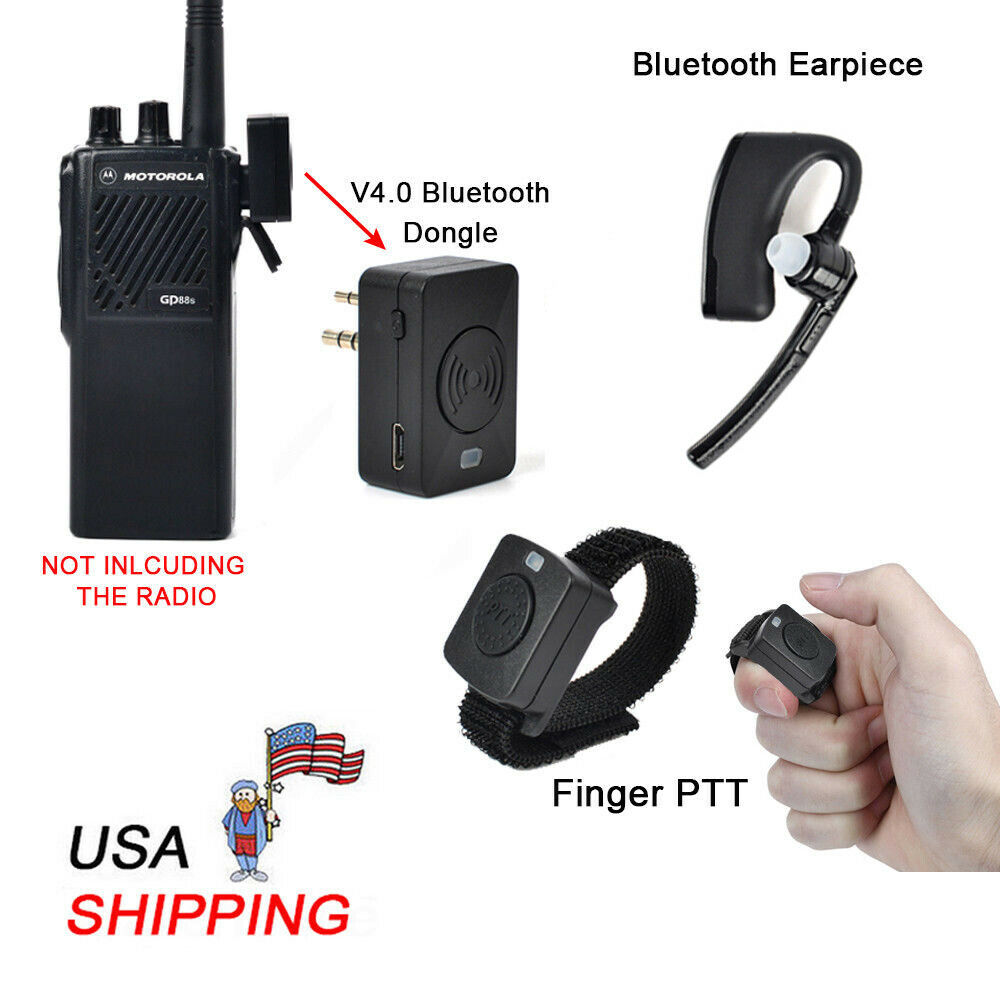 c62e7cebfcd Details about Bluetooth Ear Hook Earpiece Mic 2 Prong Connector for MOTOROLA  Two-Way Radio USA