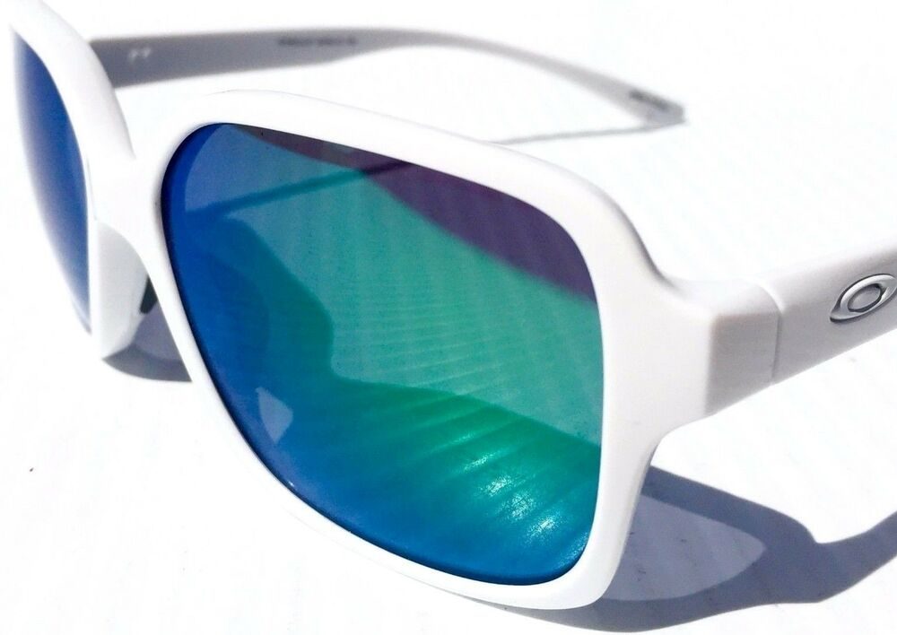 9b713d711a6 Details about NEW  Oakley PROXY Polished White frame w JADE Iridium Lens  Sunglass 9312-07