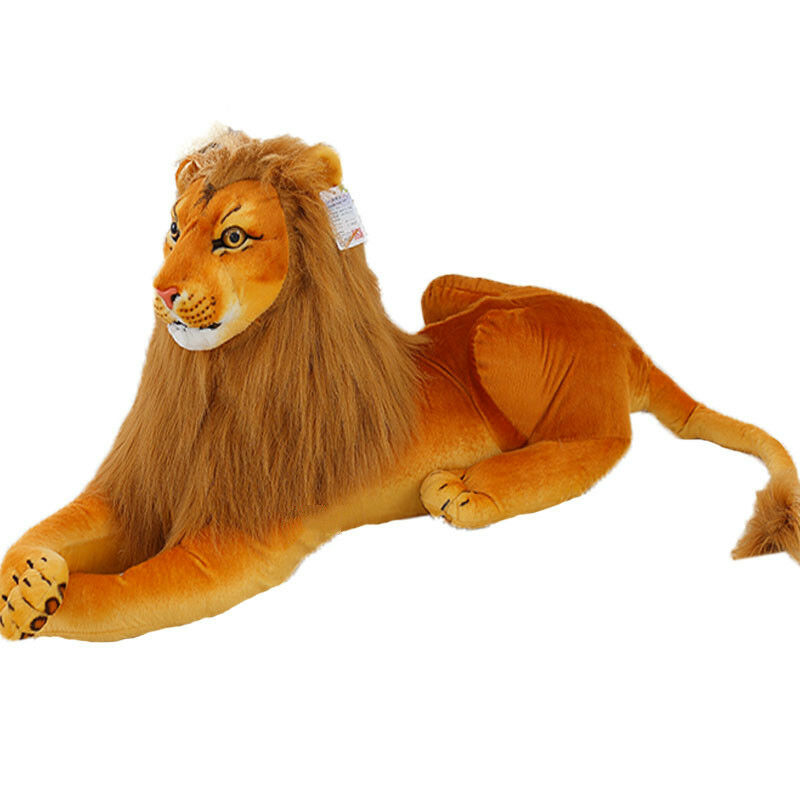 22 39 39 giant big stuffed simulation lion plush soft toys lying lion doll gift home ebay. Black Bedroom Furniture Sets. Home Design Ideas