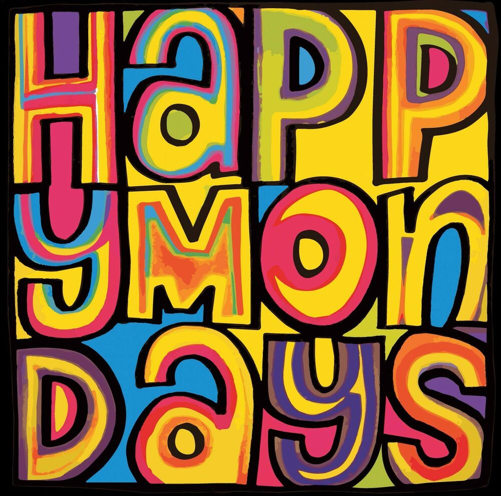 Happy Mondays Album Logo Stretched Canvas Wall Art Poster