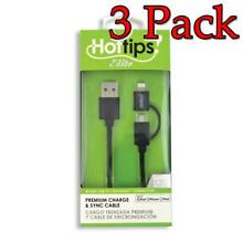 Hot Tips Elite Premium Charge & Sync Cable, 1ct, 3 Pack 024291248453A1196