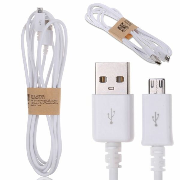 Micro USB Charging Data Cable For Android Smart Phone White Samsung Huawei LG