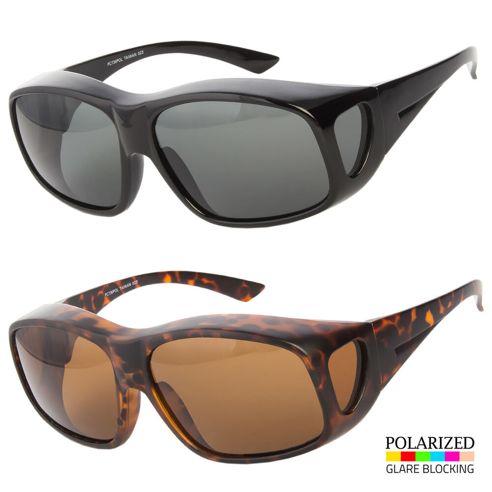 1fa1ac24cce7 Details about Large Fit COVER Over Most Rx Glasses POLARIZED Sunglasses  Safety drive ANTI GLAR