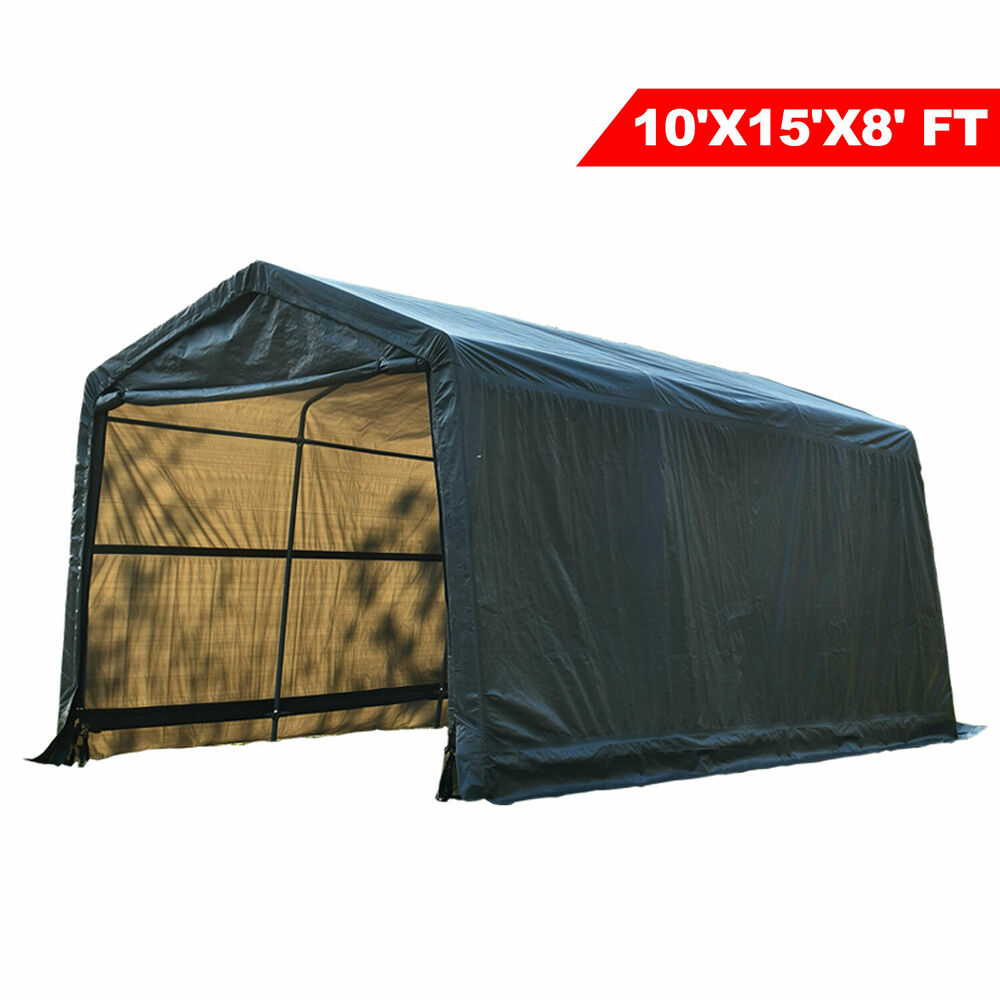 10x15x8ft Auto Shelter Logic Portable Garage Storage Shed ...