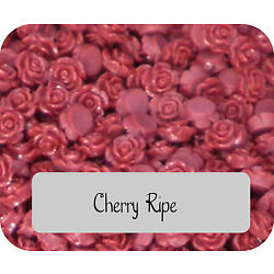 10 Rose Cabochon Cherry Ripe Red Roses Resin Retro Flower 11mm Gorgeous Flatback