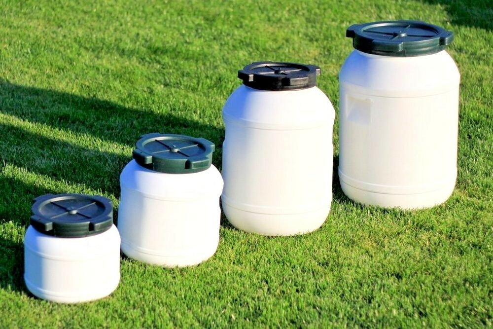 Plastic Barrel With Screw Cap Lid Ideal For Food Storage