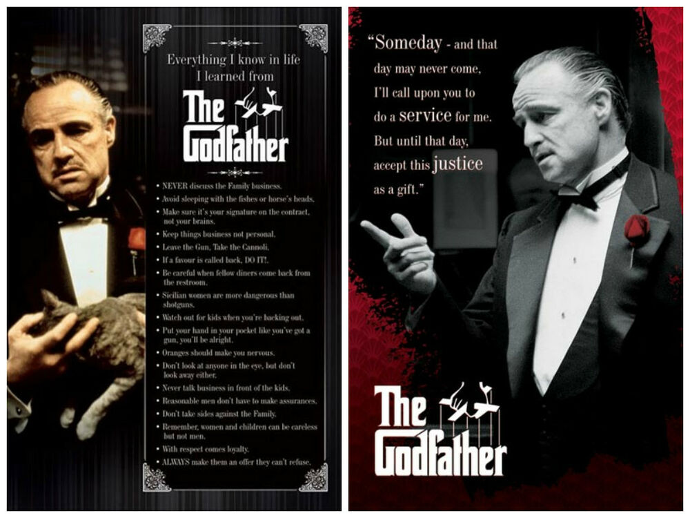 The Godfather Don Vito 2 individual posters! Everything I ...