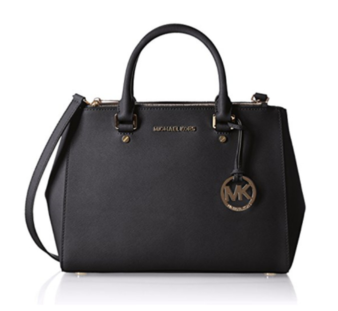 69f51faa1c66 Details about MICHAEL KORS Sutton Medium Satchel Cross body Woman Bag Black  Color