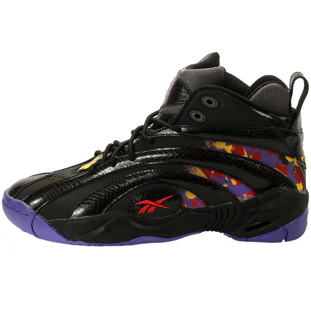 5e9c4739532 Details about Reebok Men s Shaqnosis OG NEW AUTHENTIC Black Purple Yellow Red  V61028