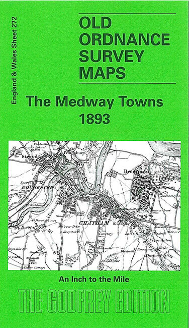 Chatham England Map.Old Ordnance Survey Map The Medway Towns Chatham Rochester