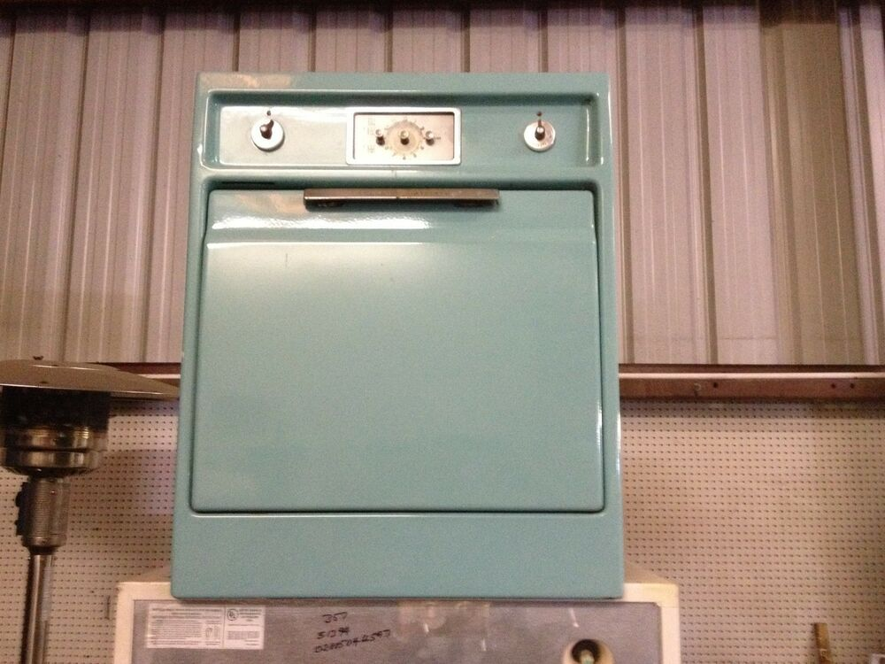 Vintage General Electric Wall Ovens ~ Ge electric in wall oven aqua teal vintage antique built