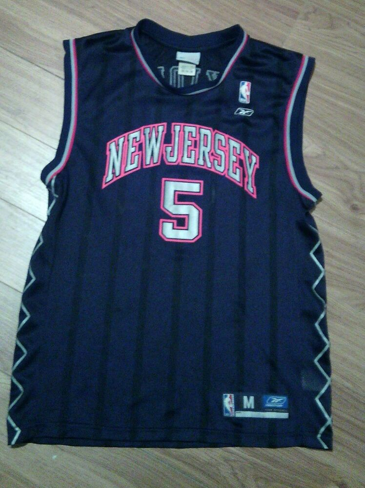 fbd58e89ddb NBA Basketball Jersey Jason Kidd  5 New Jersey Nets Kids Youth M Reebok GUC