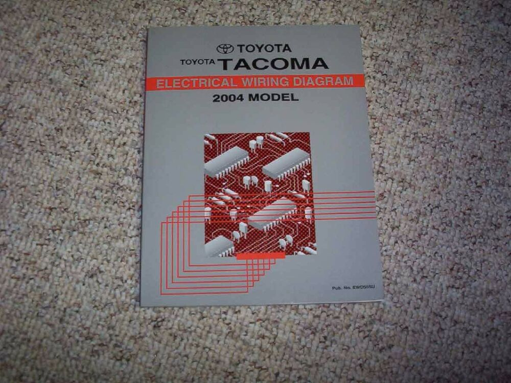 2004 Toyota Tacoma Pickup Truck Electrical Wiring Diagram Manual Prerunner V6