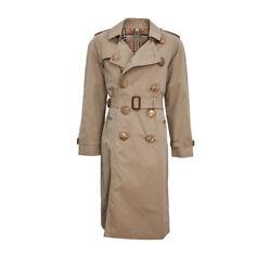Burberry Bird Button Cotton Gabardine Trench Coat (Beige; Cotton)