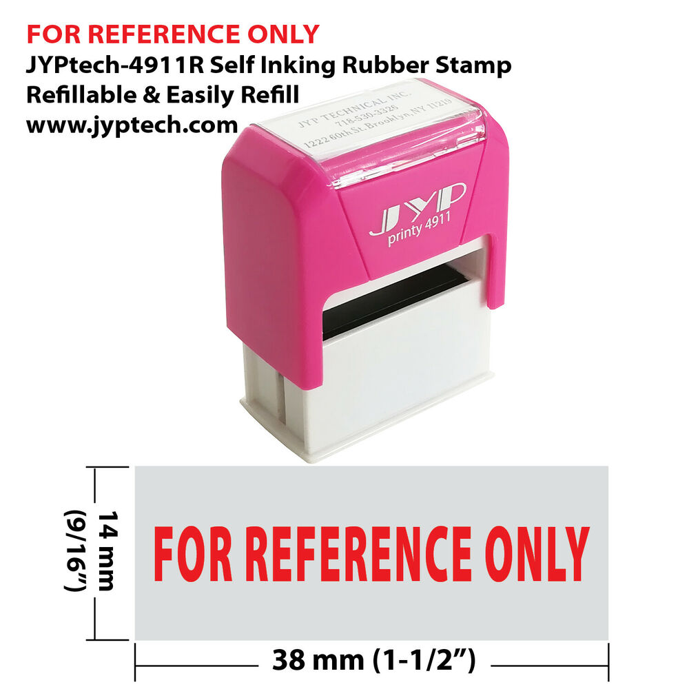 Details About JYP PA2060 Rectangle Stock Pre Inked Rubber Stamp With For Reference Only