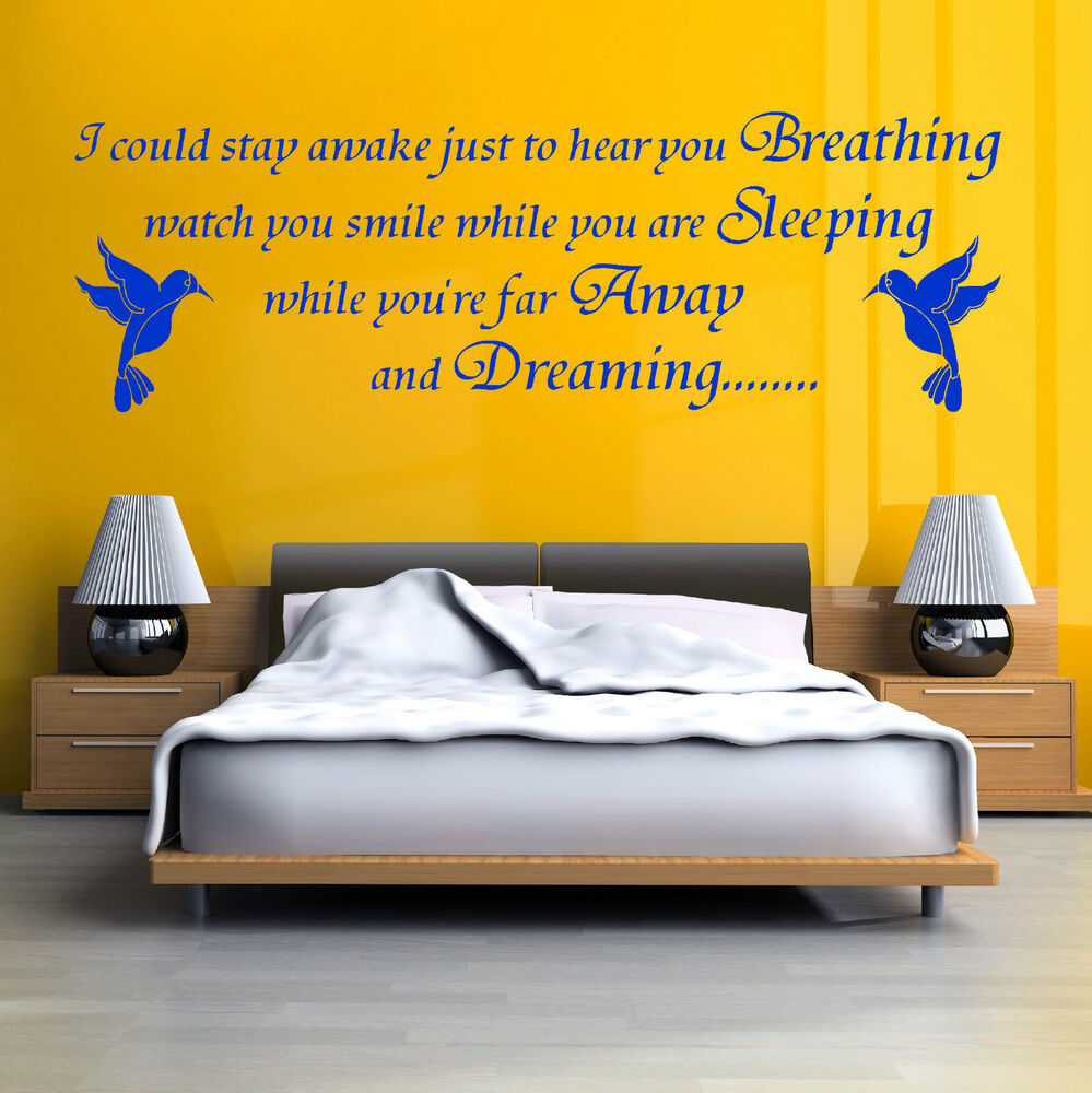 Aerosmith Breathing Quote Vinyl Wall Art Sticker Decal: AEROSMITH Song Lyrics I COULD STAY AWAKE BIRD Vinyl Wall