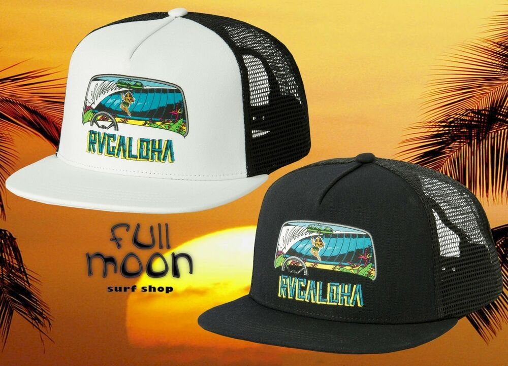 Details about New RVCA Aloha Trucker Mens Snapback Cap Hat ae4ad075f73