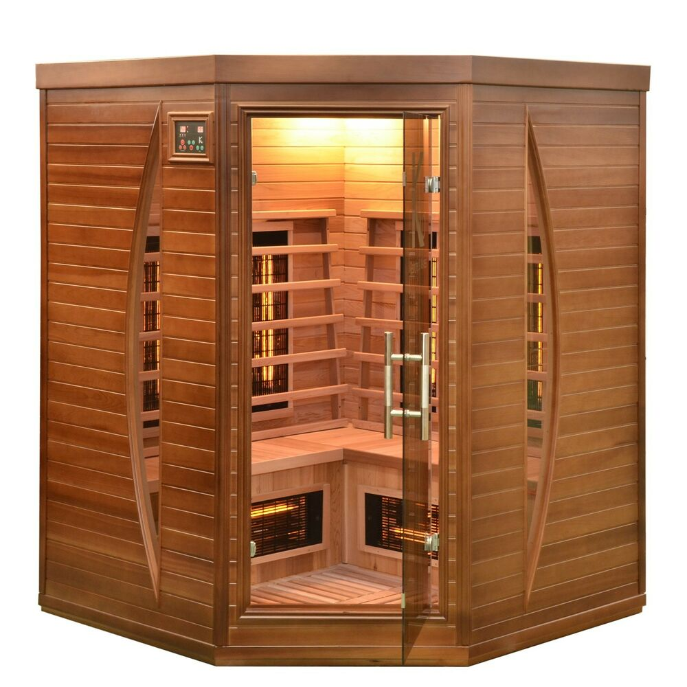 infrarotkabine w rmekabine infrarotsauna infrarot kabine sauna zeder holz neu ebay. Black Bedroom Furniture Sets. Home Design Ideas