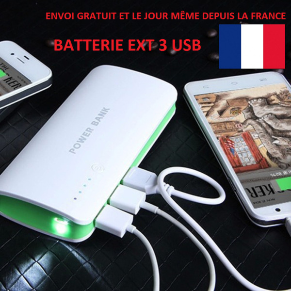 NEW 100000MAH 2x USB 2,1A CHARGEUR EXTERNE BATTERIE USB TABLETTE POWERBANK PHONE