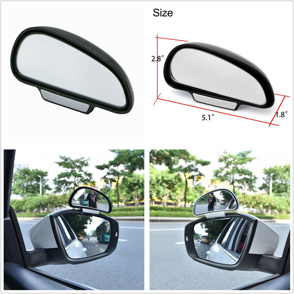 Car Adjustable Wide Angle Side Rear Mirrors Blind Spot ...