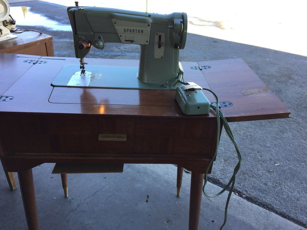 Singer SPARTAN Sewing Machine Whith Foot Pedal And Table EBay Amazing 1960 Singer Spartan Sewing Machine Model 192k