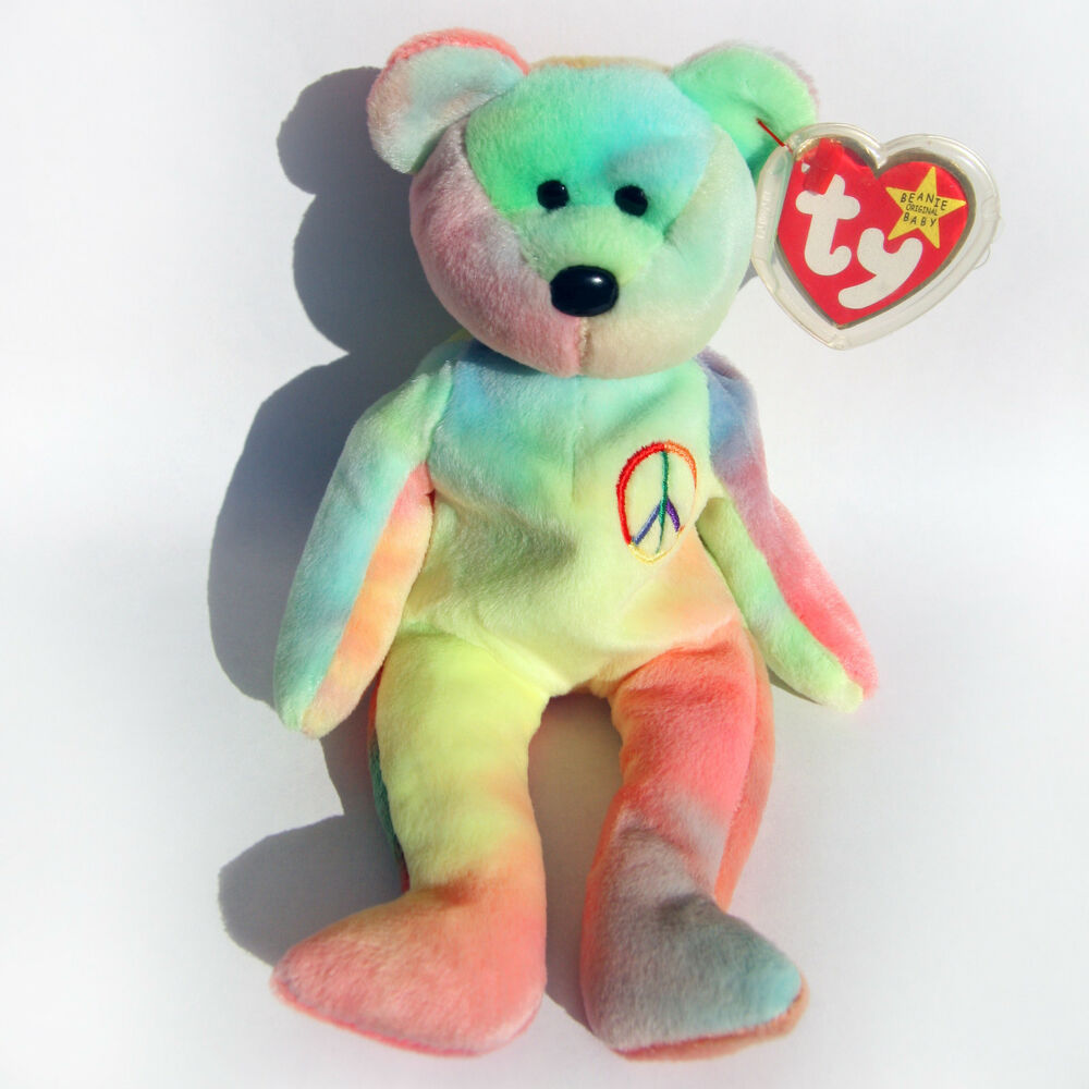 Details about TY Peace Bear Beanie Baby - Rare Retired Original 1996 -  Pristine Mint Condition 0329dd6fd53e
