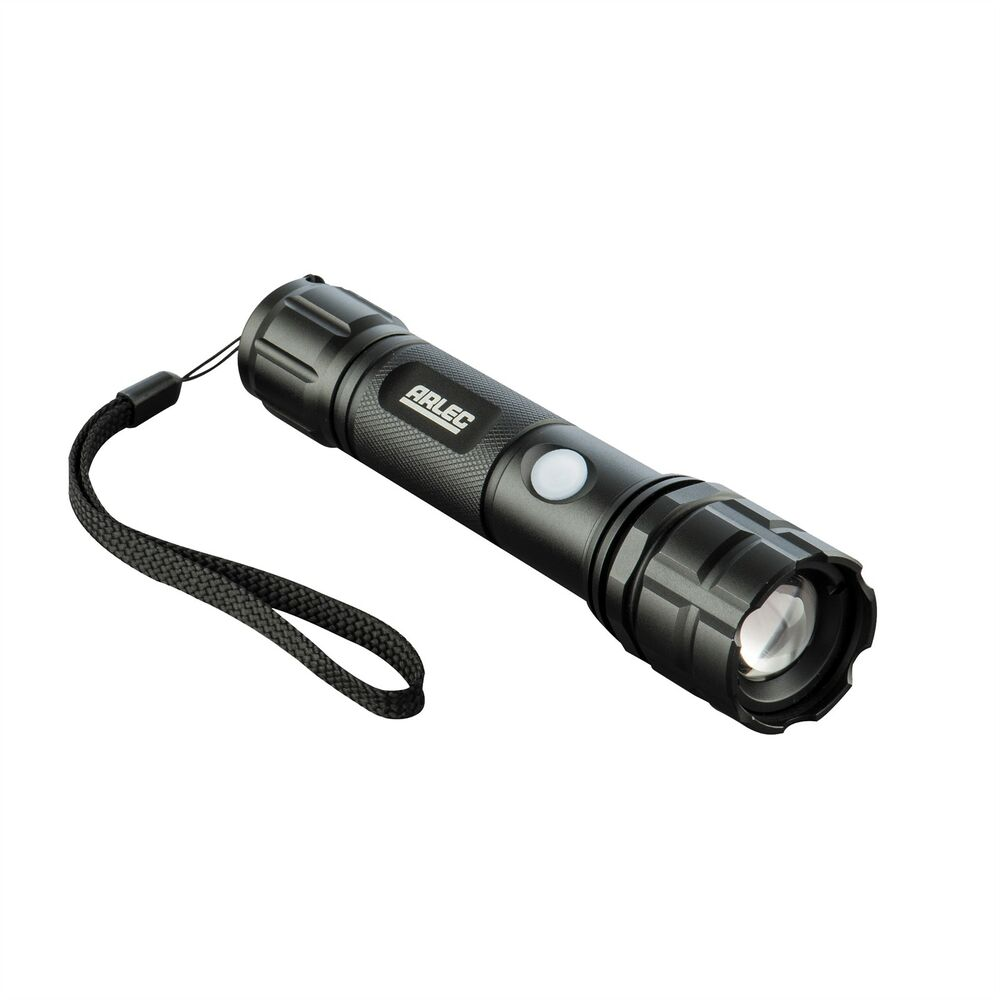 Arlec Rechargeable Led Torch At0042 300 Lumen 4 Modes 140m Max Beam Distance