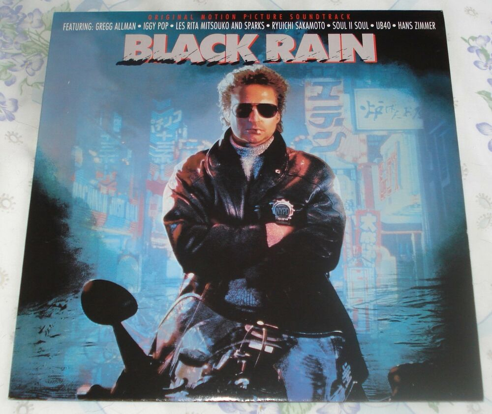 BLACK RAIN (Hans Zimmer & various artists) rare original mint stereo ...