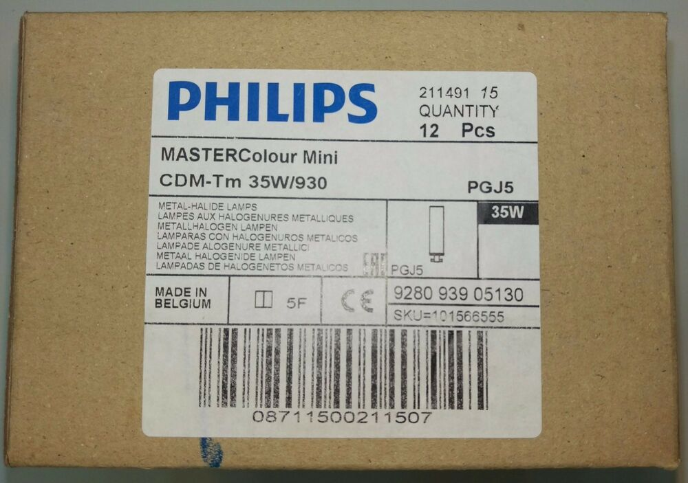 Metal Halide Lampen : 12 philips cdm tm 35w 930 mastercolour 211491 metal halide light