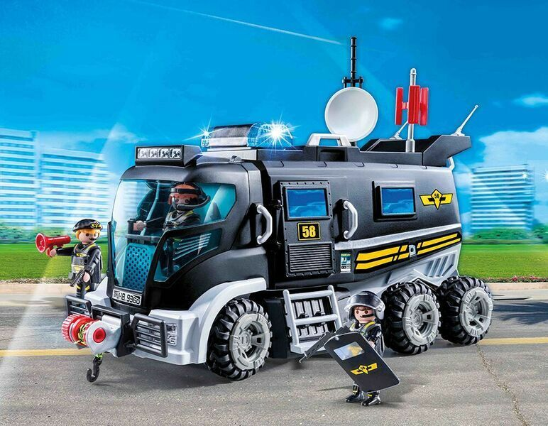 playmobil 9360 sek truck mit licht und sound neu ovp. Black Bedroom Furniture Sets. Home Design Ideas