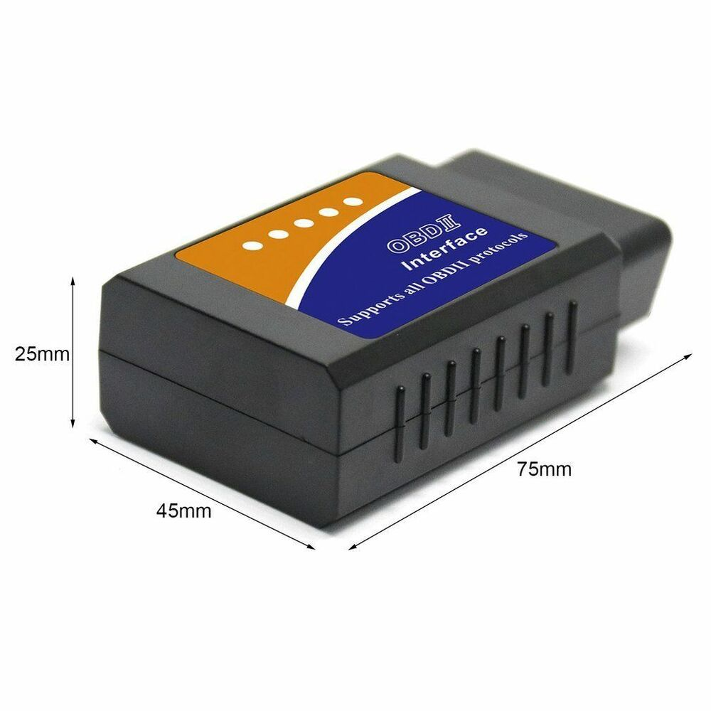 mini elm327 bluetooth obd2 car diagnostic tool obdii code reader scanner android ebay. Black Bedroom Furniture Sets. Home Design Ideas