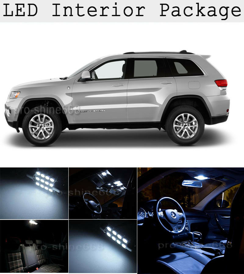12 x white smd led interior lights kit for 2011 2015 jeep - 2015 jeep grand cherokee led interior lights ...