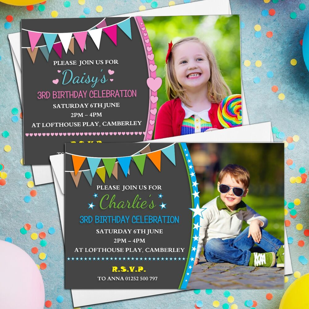 Details About 10 Personalised Girls Boys Birthday Party Invitations Invites ANY AGE N211