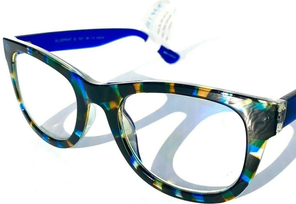 bc1b4a1f2e2 BLUE LIGHT Blocking Computer Gaming FASHION Reader Glasses BLUEPRINT Blue  Tort