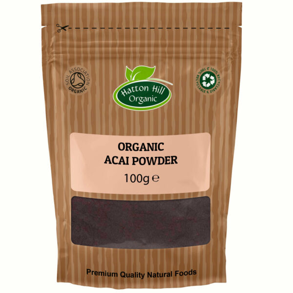 Organic Acai Berry Powder - Freeze Dried - 100g Certified Organic