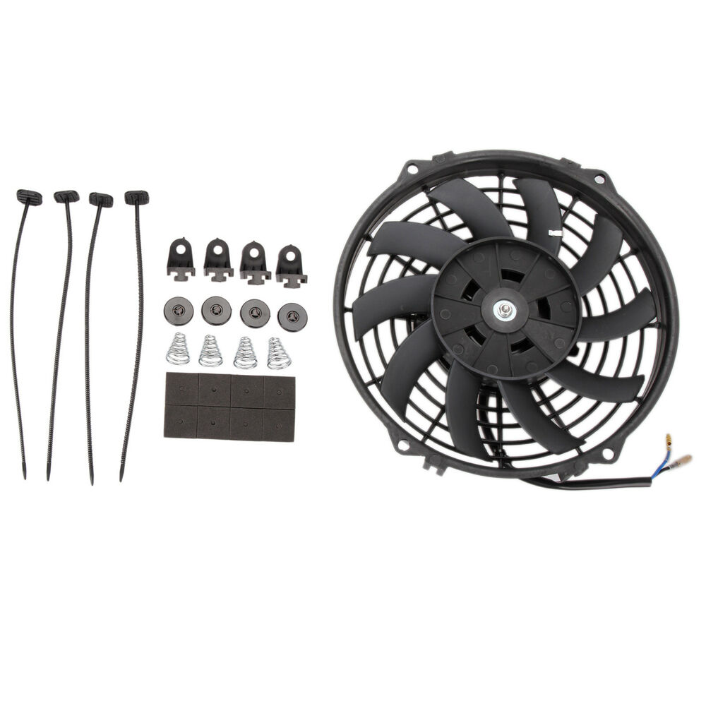 Details About Universal 9 12v 80w Car Electric Radiator Intercooler Cooling Fan Push Pull Kit
