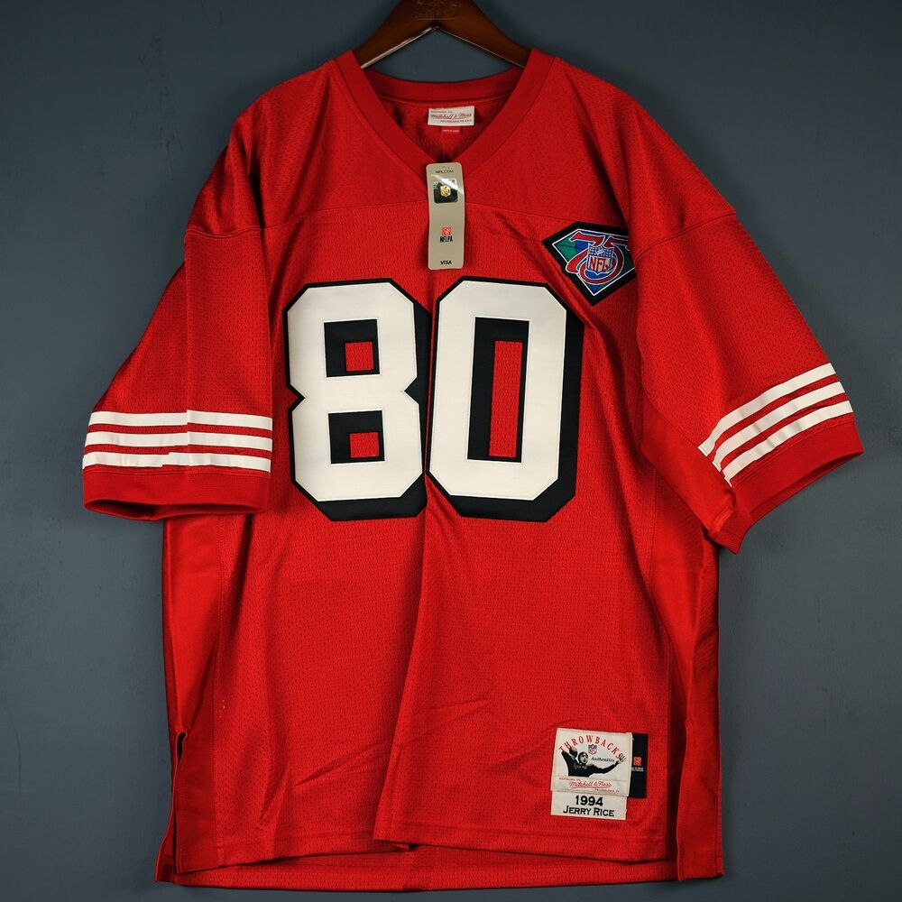 5d349879 100% Authentic Jerry Rice Mitchell & Ness 49ers NFL Jersey Size 56 3XL |  eBay